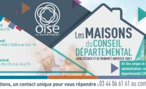 Les Maisons du Conseil Départemental, lieux d'écoute et de proximité ouverts à tous ! à Sainte-Geneviève en Mairie les lundis de 14h00 à 17h00