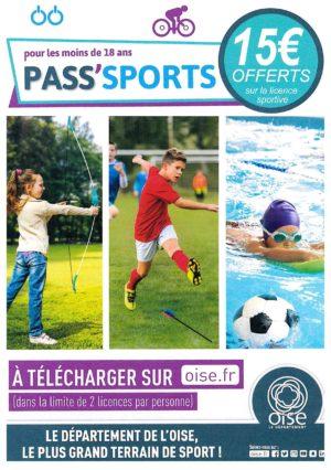 Pass'Sports pour les moins de 18 ans à télécharger sur oise.fr – Le département de l'Oise, le plus grand terrain de sport !