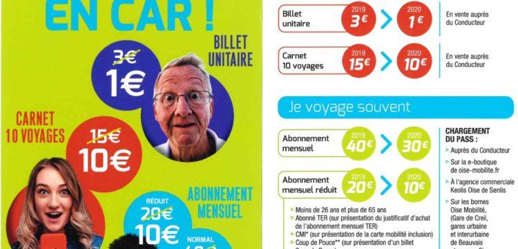 A partir du 1er janvier 2020, la Région Hauts-de-France réduit les tarifs de tous les titres du réseau oise……