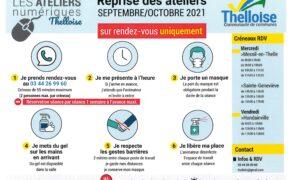 Reprise des ateliers numériques Thelloise – septembre /octobre 2021 – Sur rendez-vous uniquement