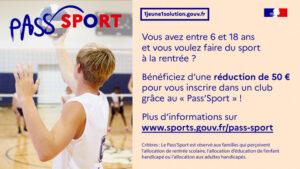 Pass'Sport, réduction de 50 euros !